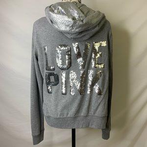 VS PINK sequin zip-up hoodie